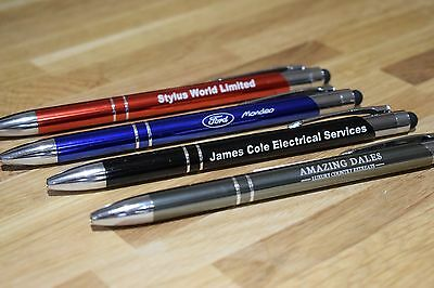 Promotional Pens - Personalised Engraved Aluminium Metal Ballpoint Pen