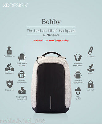 Bobby Anti Theft Anti Cut Casual Travel Working Unisex Backpack