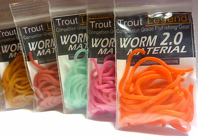 TroutLegend Worm 2.0 Material San Juan Squirmy Wormies 9 Colors Fly Tying