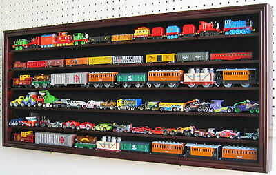 LARGE HO RR Scale Train Hot wheels Display Case Cabinet Shadow Box-HW05-MAH