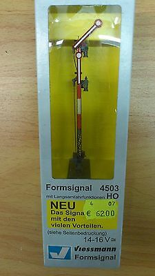 H0 Viessmann 4503 Semaphore signal with Slowly driving functions 14-16 V. OVP