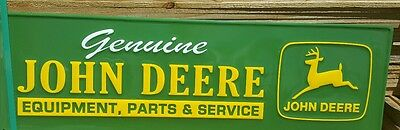 JOHN DEERE Sign Tractor Metal Farm Equipment LARGE Vintage Style Advertising