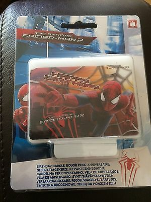Large Spiderman Candle for Birthday Cake - The Amazing Spiderman 2 Candle