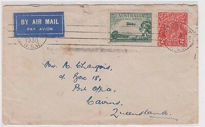 Stamps Australia various cover sent airmail Bathurst to Cairns Queensland