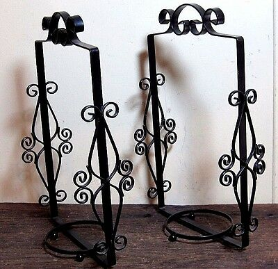 Vintage Ornate Iron Flower Pot Plant Stands Candle Holders Home & Garden Hangers