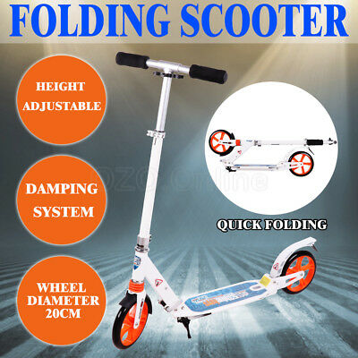Folding Scooter Commuter Big Wheel Suspension Scooter Adult Child Hot Gift NEW