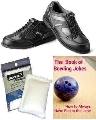 Dexter Pro AM II Mens Bowling Shoes Right Hand Black + 2 Free Gifts