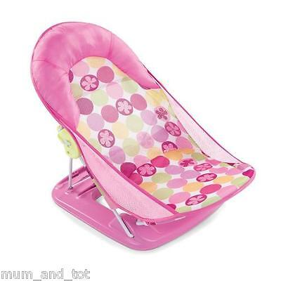 Bather Baby Bath Seat Support Sink Tub Foldable Girls Circle Daisy SI