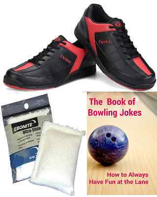 Dexter Ricky Mens Bowling Shoes Black/Red + 2 Free Gifts
