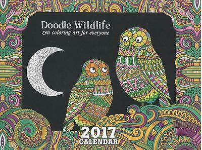 Wildlife Doodle Zen 2017 Wall Calendar and Coloring Book from Tree-Free!
