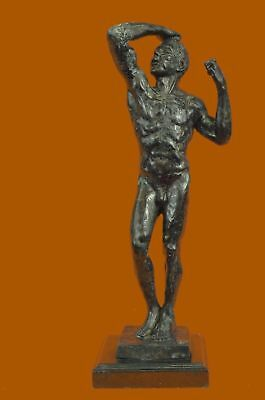 Bronze Sculpture The Age, Also Known As The Vanquished, Statue Figurine Figure