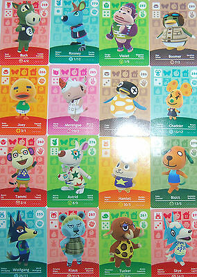 NEW amiibo - Animal Crossing - Series 3 Cards Pick Your Own 251-300 Nintendo