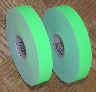 2 Rolls Paxar Monarch 1142 1160 1165 1166 Fluorescent Green Price Gun Labels