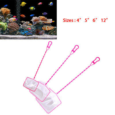 "Practical Aquarium Fish Tank 4"" 5"" 6"" 12"" Fish Shrimp Net Tropical Marine Scoop"