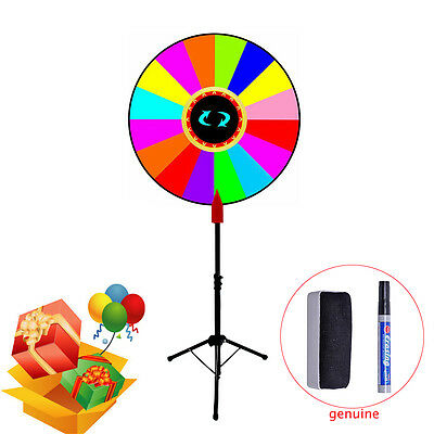 "24"" Multi Color Dry Erase Carnival Prize Wheel Spinning Gaming Floor Stand new"