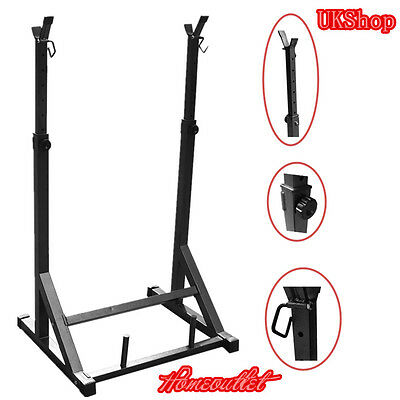 High Quality Adjustable Gym Squat Rack & Dip Stand Barbell/Weight Gym Bench AYA