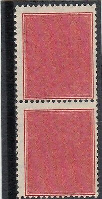 Stamps Australia 1937 red coil perforated tester pair MUH/MH