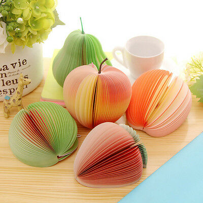 10Types Cute Fruit Sticker Post-It Bookmark Point Marker Memo Flags Sticky Notes