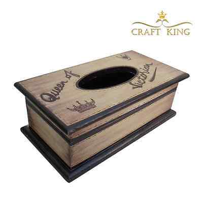 Elegant Handmade Hand Made Wooden Antique Decor Vintage Retro Tissue Box Cover