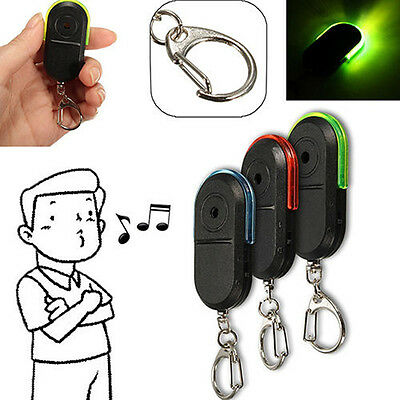 1PC Wireless Anti-Lost Alarm Key Finder Locator Keychain Whistle Sound LED Light
