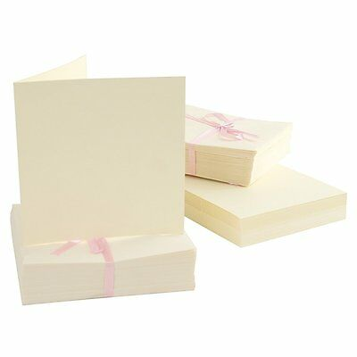 Square Card with Envelope Pack of 100 Cream