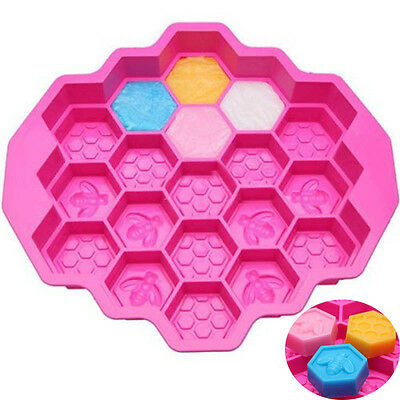 19 Cell Silicone Bees Honeycomb Fondant Chocolate Mold Soap Mold Cake Mold Mould