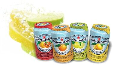 San Pellegrino Soft Drink 24 x 330ml Cans **6 Flavours to choose from**
