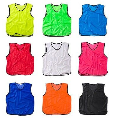 Football Training Bibs Vests - Sports Mesh All Sizes And Colours