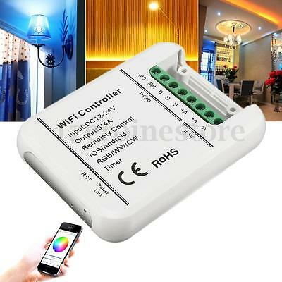 DC12-24V Wireless Wifi LED Strip RGB W Controller 5 Ch For IOS Android Phone App