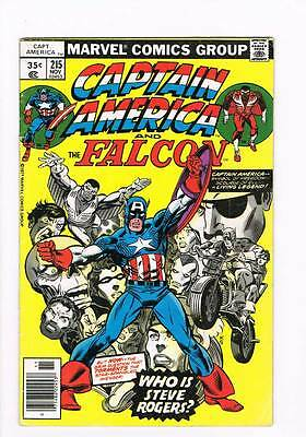 Captain America # 215 The Way It Really Was ! grade 3.5 hot book !!