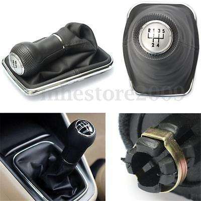 5 Speed Gear Shift Knob Cover Stick Lever Gaitor Boot For VW Bora Golf MK4 Jetta