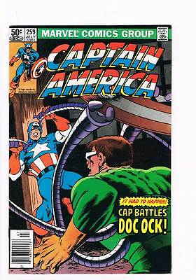Captain America # 259 Rite of Passage ! grade 8.0 scarce book !!