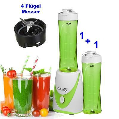 Smoothie Mixer 2 GO inkl 2 Trinkbecher Standmixer Smoothie Maker Blender NEU
