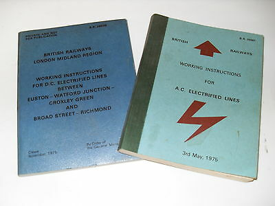 British Railways Working Instructions for AC & DC Electrified Lines 1975 - books