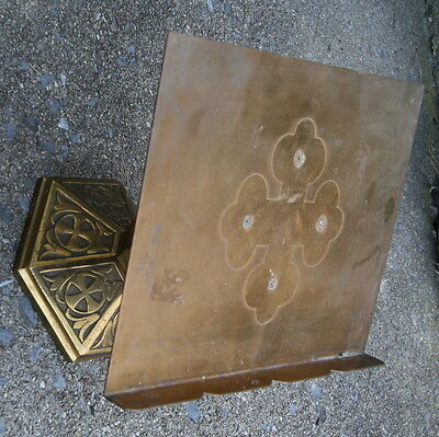 antique vintage SOLID brass family bible stand