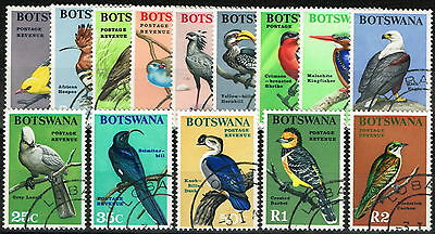 Botswana 1967 Birds set of 14 SG220-233 Superb Used