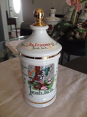"1972 Old Fitzgerald Collectors Gallery Talisman Porcelain ""Irish Luck"" -Empty-"