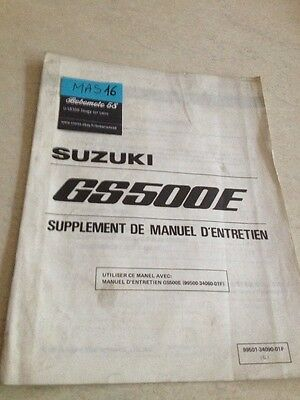Suzuki GS500E GSE 500 90 supplement revue moto technique manuel atelier français