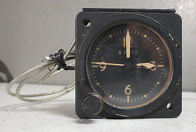 Vintage Waltham Bell 300455 206-070-275-5 8 Day Clock Indicator Aircraft Gauge