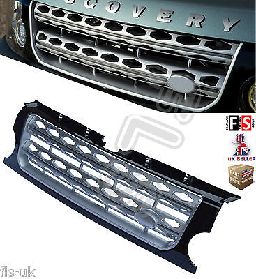 Land Rover Discovery 3 Front Grille 05-09 Silver With Black 2016 Look Oem Fit