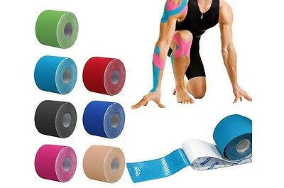 Kinesiology Roll Tape Gym Sports Physio Muscle Strain Injury Support 5cm x 5m