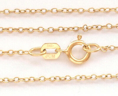 Beautiful 925 Fine Sterling Silver Gold Plated Belcher Chain Necklace Rolo Cable
