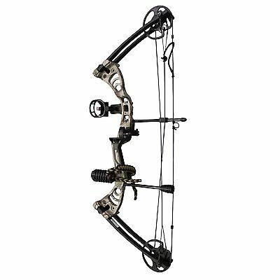 """SAS Scorpii 55 Lb 32"""" Compound Bow Package 260 FPS - Camo"""