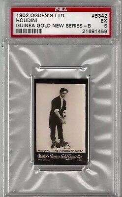 1902 OGDENS HOUDINI RC PSA 5 *RARE* Remarkable Card Sharp Color Corners & Edges