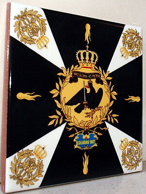 Prussia -Prussian flag Napoleonic wars~Colberg 1807~ FLAG CERAMIC TILE
