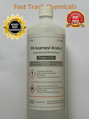 IPA 1 LITRE Pharma Grade Isopropyl Alcohol 99.9% (ADR NEXT DAY DELIVERY)