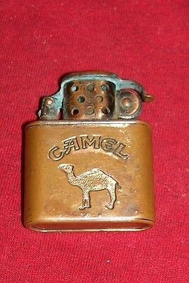 Old Camel Cigarettes Lighter Copper Vintage Ad Advertising Collectible Collector