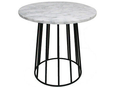 contempory new modern Elle Marble-Top Side Table