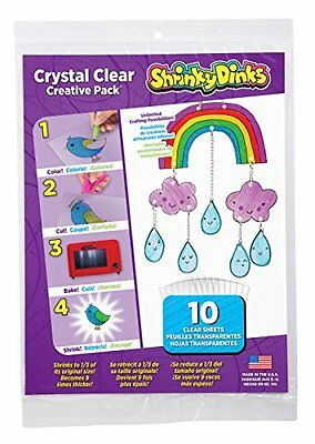Shrinky Dinks Crystal Clear 10 Sheet Creative Pack by Shrinky Dinks (BRAND NEW)