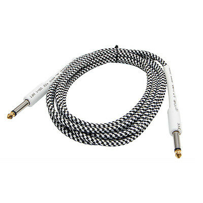 6-26FT 6.35mm Mono Male to 6.35mm Mono Straight Jack Cable Cord for Bass Guitar